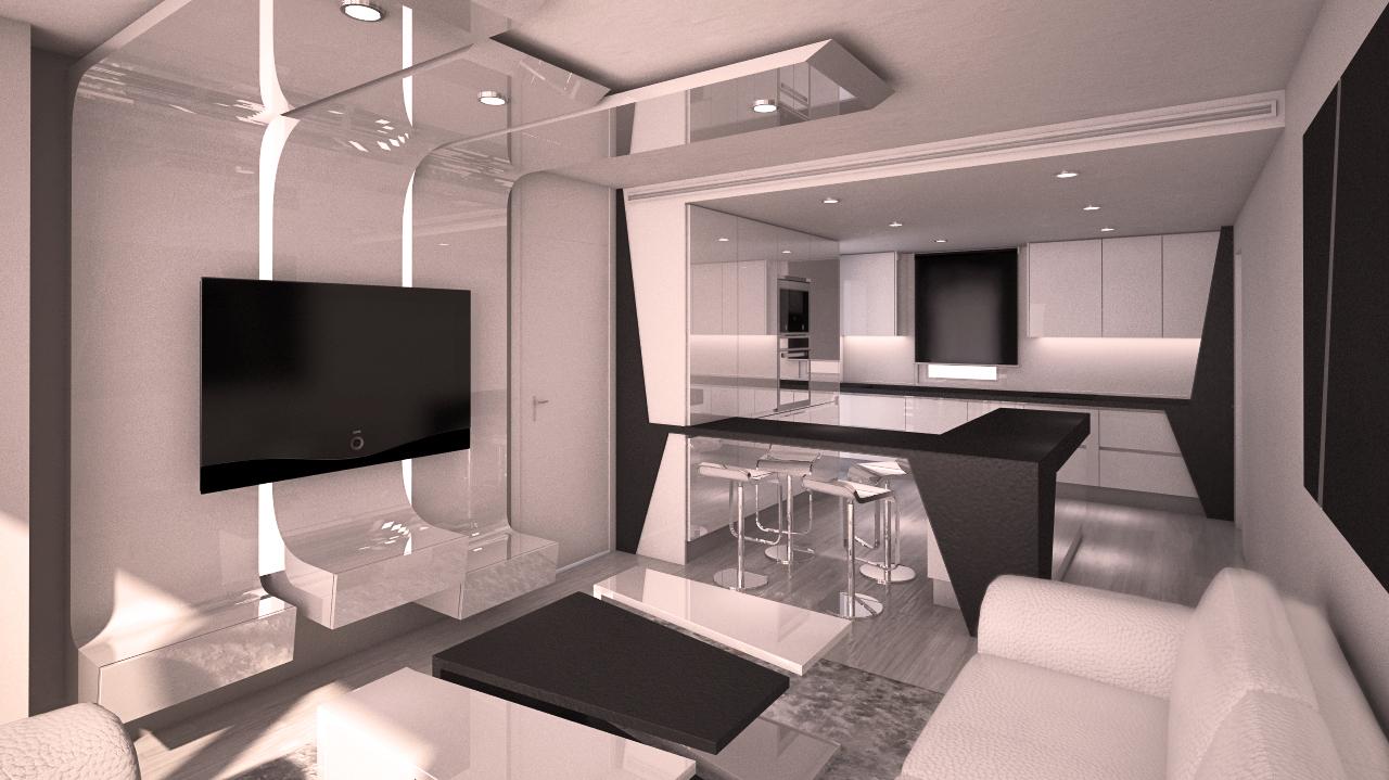Dise o moderno de piso en madrid grupo ias for Mesillas de diseno moderno