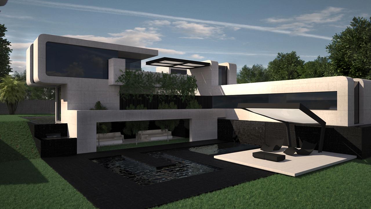 Dise o de vivienda unifamiliar con patio grupo ias for Viviendas para terrazas