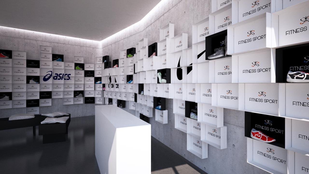 Dise o de tienda de deporte grupo ias for Disenos de tiendas de ropa modernas