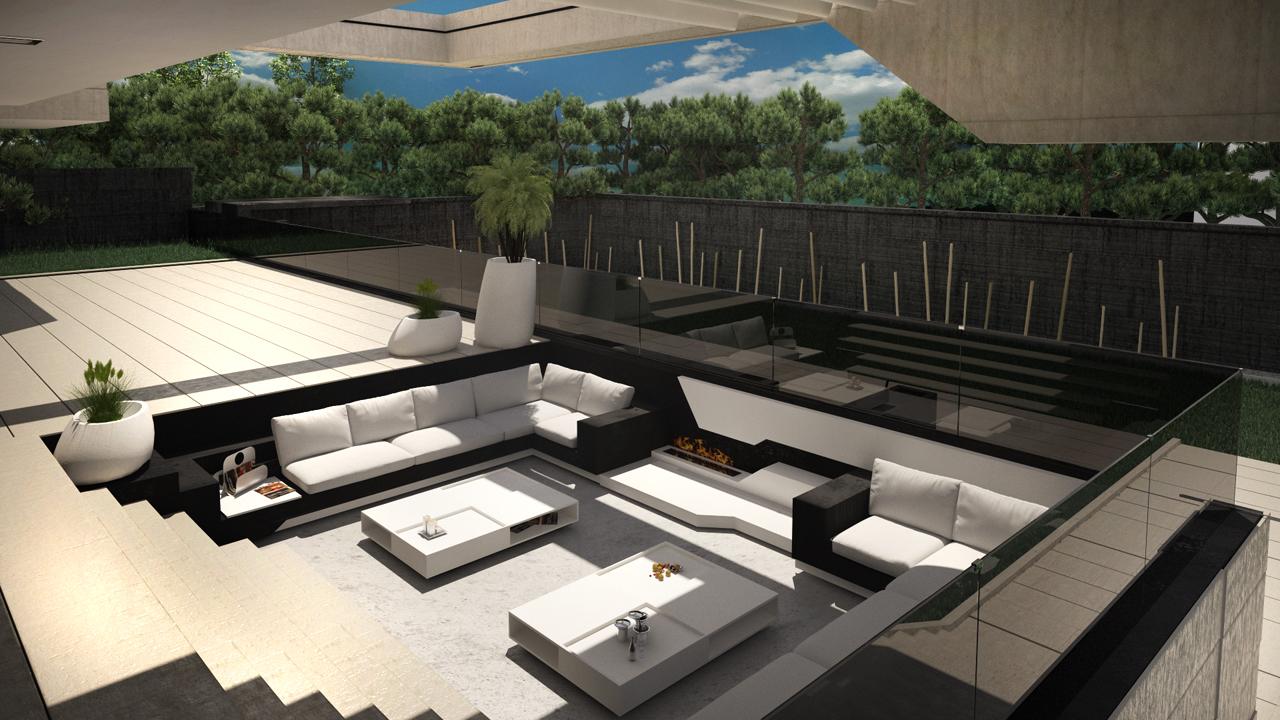Diseño De Terraza En Vivienda Unifamiliar Grupo Ias