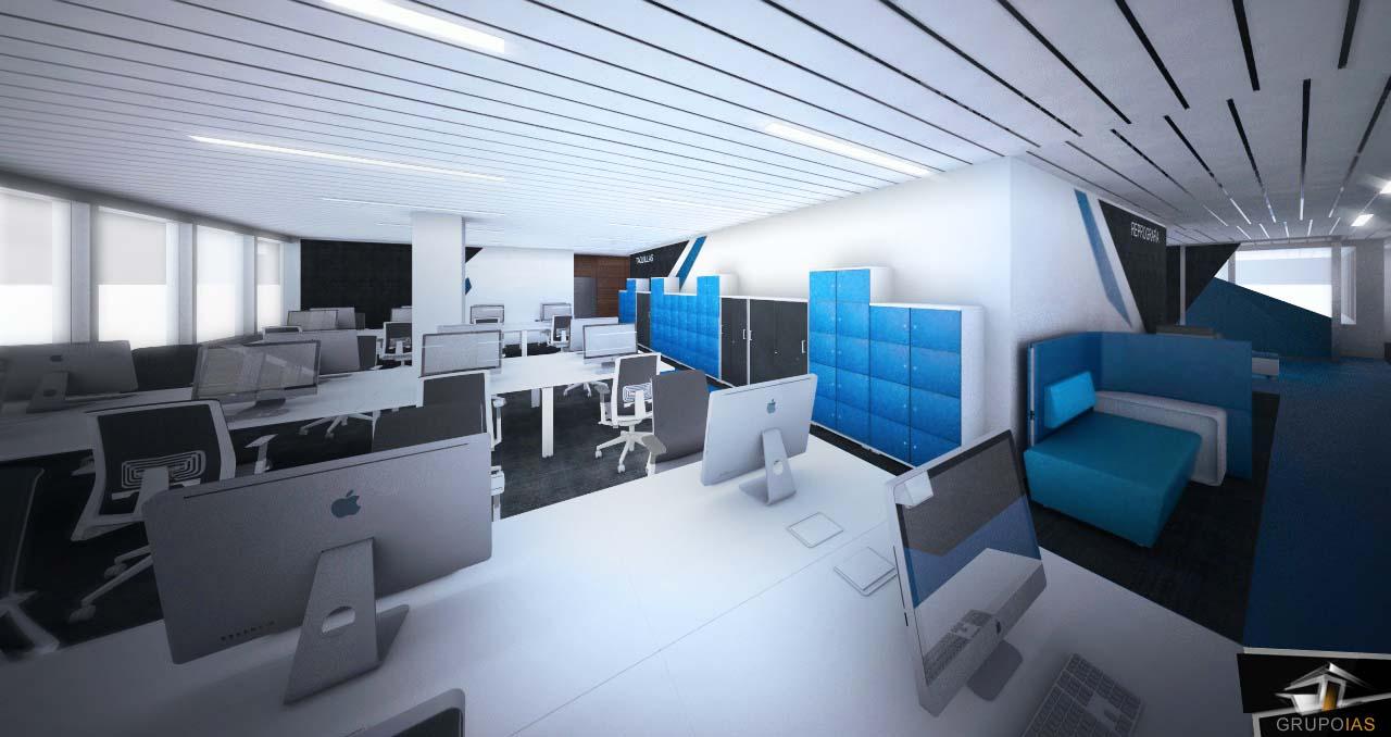 Propuesta de reforma de oficinas de 2000m2 grupo ias for Diseno de interiores de oficinas modernas